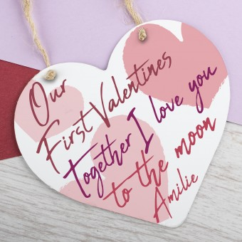 Metal Heart Plaque First Valentines PPL-109