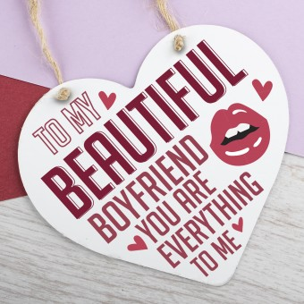 Metal Heart Plaque Beautiful Boyfriend PPL-117