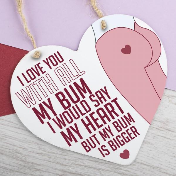 Metal Heart Plaque I Love You PPL-118