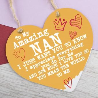 Metal Heart Plaque Amazing Nan PPL-125