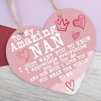 Metal Heart Plaque Amazing Nan PPL-127