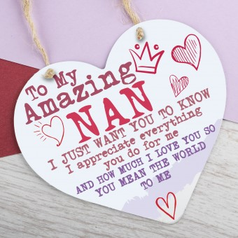Metal Heart Plaque Amazing Nan PPL-128