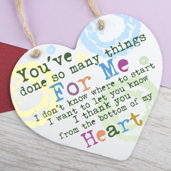 Metal Heart Plaque You've done so many things PPL-129