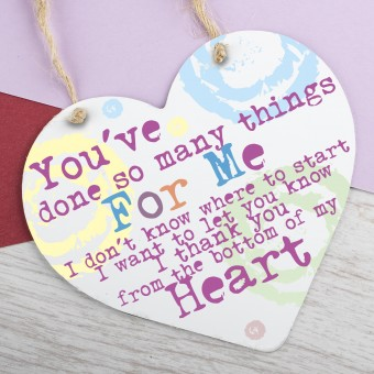Metal Heart Plaque You've done so many things PPL-130