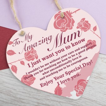 Metal Heart Plaque Amazing Mum PPL-154