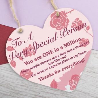 Wooden Heart Plaque Thank You PPL-167