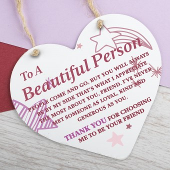 Metal Heart Plaque Thank You PPL-168