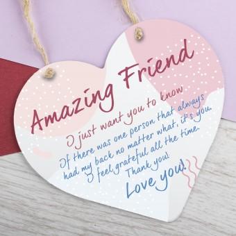 Metal Heart Plaque Amazing Friend PPL-170
