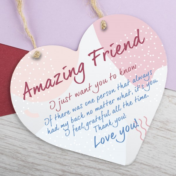 Metal Heart Plaque Amazing Friend PPL-170