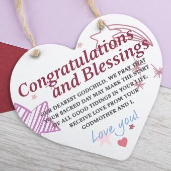 Metal Heart Plaque Congratulations PPL-175