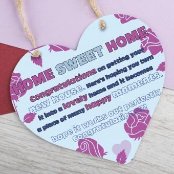 Metal Heart Plaque Congratulations on New Home PPL-191