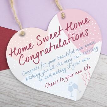 Metal Heart Plaque Congratulations on New Home PPL-192
