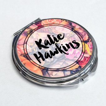 Personalised Pocket Mirror - Round