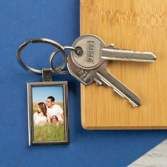 Personalised Photo Metal Keyring-Rectangle