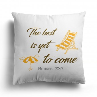 Personalised Retirement Cushion Cover