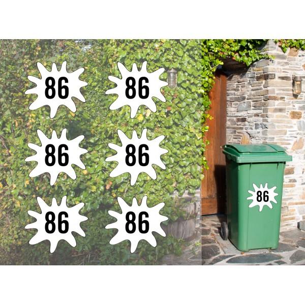 Personalised Bin Sticker x6pcs