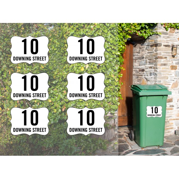Personalised Bin Sticker x6pcs