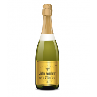 Personalised Champagne Label