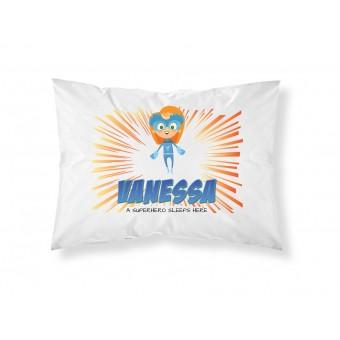 Personalised Children Superhero Pillowcase