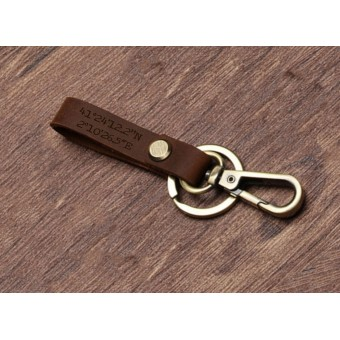 Personalised Leather Keyring - Small