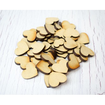 50 or 100 Plywood Heart Shapes