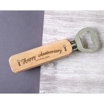 Personalised Engraved Wooden Bottle Opener - WBON-101