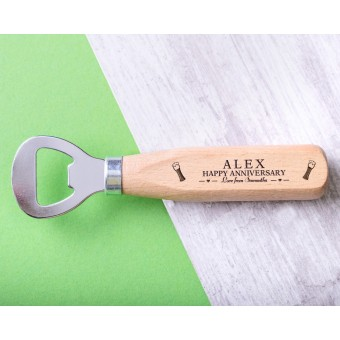 Personalised Engraved Wooden Bottle Opener - WBONS-102
