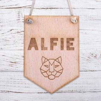 Personalised Wooden Door Sign