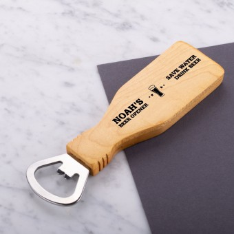 Personalised Engraved Magnetic Wooden Bottle Opener - Save Water