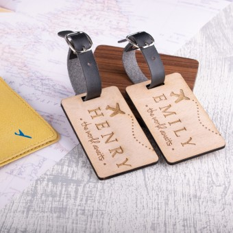 Personalised Wooden Luggage Tag - WLT-111
