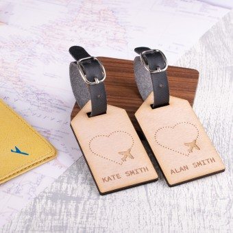 Personalised Wooden Luggage Tag - WLT-119