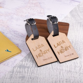 Personalised Wooden Luggage Tag - WLT-121