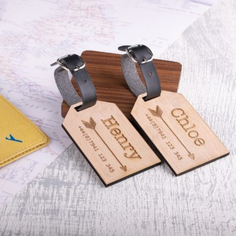 Personalised Wooden Luggage Tag - WLT-122