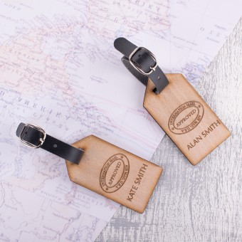 Personalised Wooden Luggage Tag - WLT-120