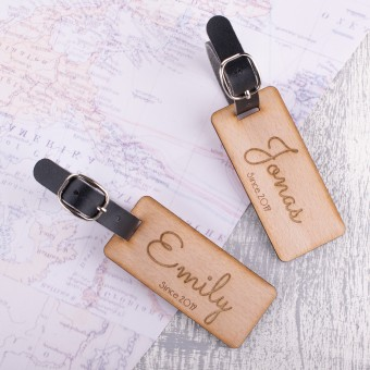 Personalised Wooden Luggage Tag - WLT-115