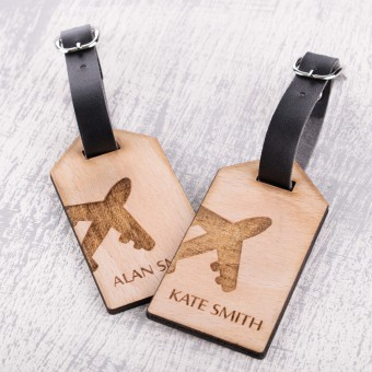 Personalised Wooden Luggage Tag - WLT-118
