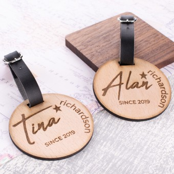 Personalised Wooden Luggage Tag - WLT-113