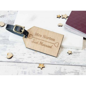 Personalised Wooden Luggage Tag - WLT-102