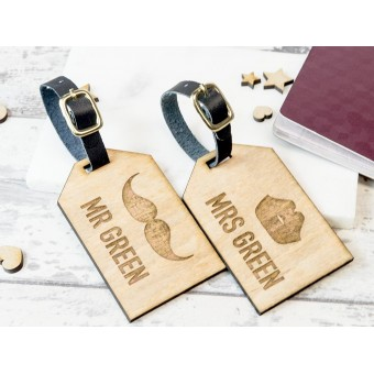 Personalised Wooden Luggage Tag - WLT-105