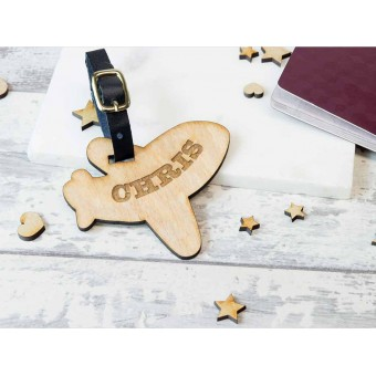 Personalised Wooden Luggage Tag - WLT-109