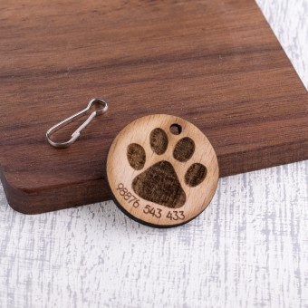 Personalised Wooden Pet Tag