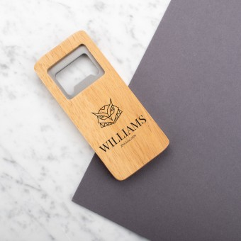 Personalised Engraved Wooden Bottle Opener Rectangle