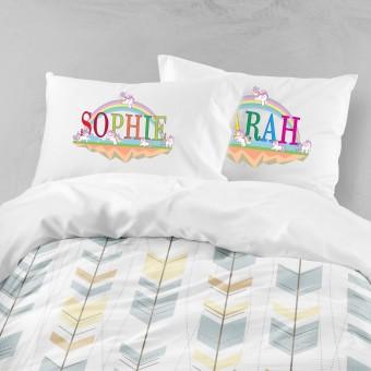 Personalised Unicorn Pillowcase